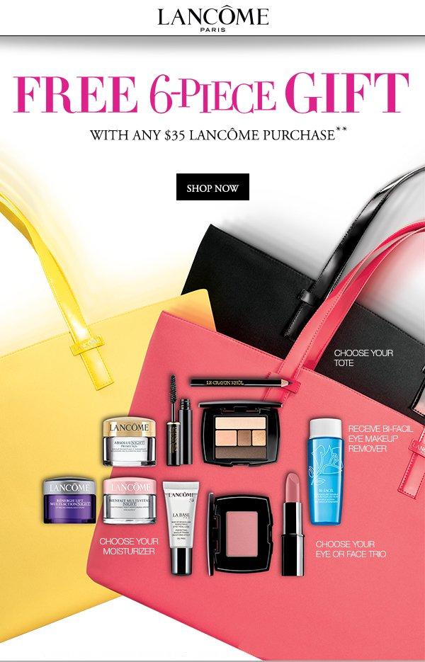 Younkers: Lancôme: FREE 6-pc. Gift w/any $35 Lancôme Purchase ...