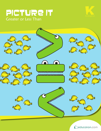 Free printable 1st grade greater than less than worksheets