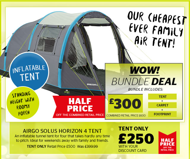 Airgo Solus Horizon 4  sc 1 st  Milled & Go Outdoors: Wow! Half price deals on selected tents camping ...