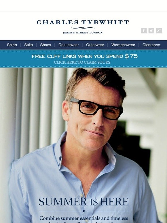 Charles Tyrwhitt Stock Up On Style Essentials Milled
