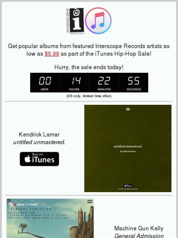 Lady Gaga: iTunes Hip Hop sale | Kendrick Lamar, MGK, Bas
