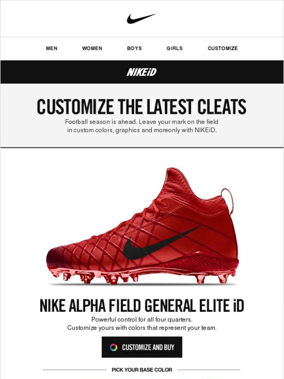 customize your own football cleats