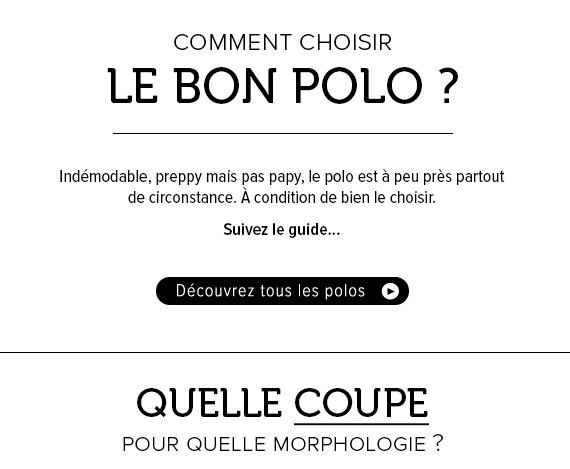 Comment choisir le bon polo ? Quelle coupe, pour quelle morphologie ?