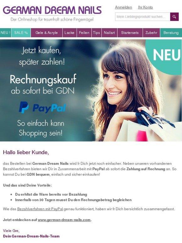 german dream nails jetzt kaufen sp ter zahlen rechnungskauf bei gdn milled. Black Bedroom Furniture Sets. Home Design Ideas