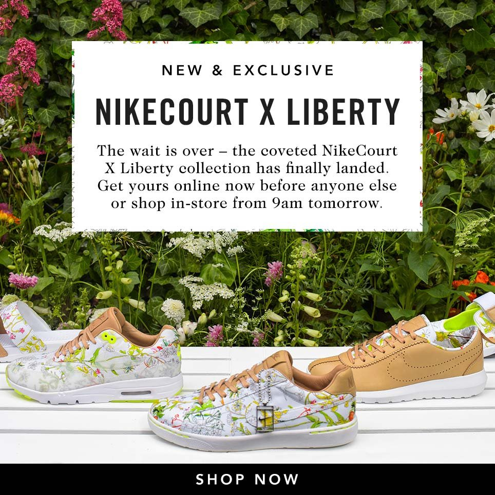 Liberty London: The new NikeCourt X Liberty collection is