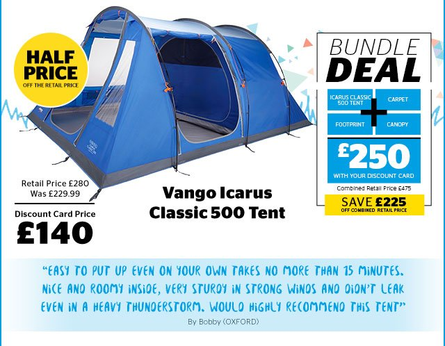 Go Outdoors: New lines added: Up to 50% off tents and