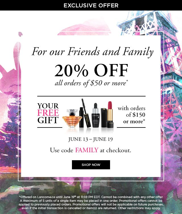 Friends & Family: Take 25% off items labeled 25% OFF. No promo code needed! Ends 12/9.