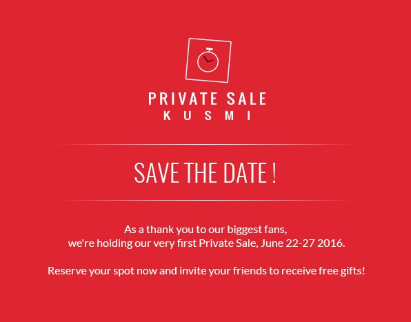 kusmi tea de save the date our private sale opens in 3 days