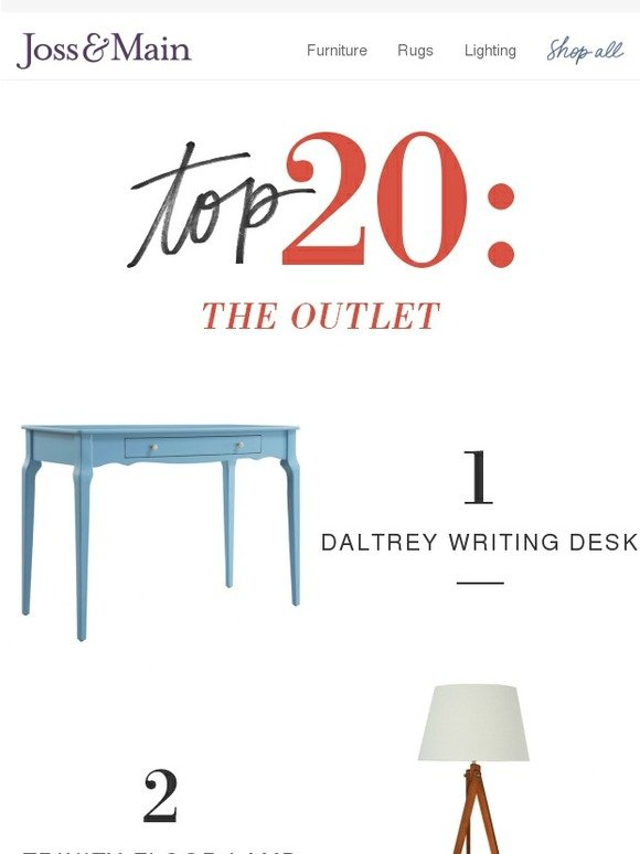 Joss main top 20 stylish finds from the outlet milled for Joss and main contact