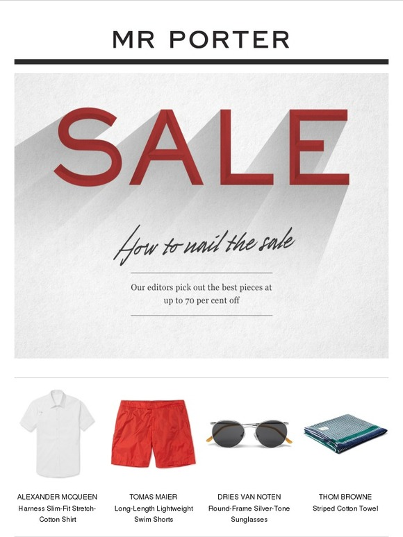 Mr porter your insider sale guide with up to 70 off milled - When does the mr porter sale start ...
