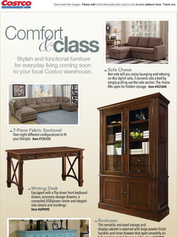 Costo Furniture For Everyday Living Coming Soon To Your Local Costco Warehouse Milled