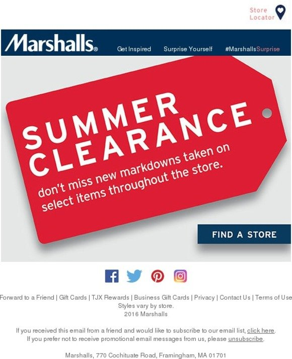 Dont Miss Our Huge Summer Clearance Event