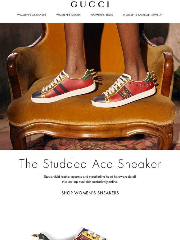 ce133ce36e0 Gucci  Online Exclusive  The Studded Ace Sneaker