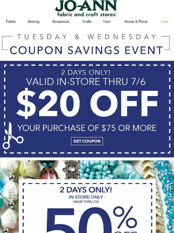 Jo ann fabric and craft store all new for you coupons for Jo ann fabric and craft coupons