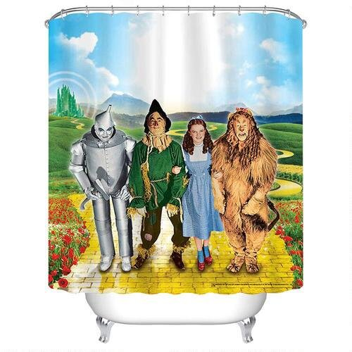 The Wizard Of Oz Yellow Brick Road Shower Curtain