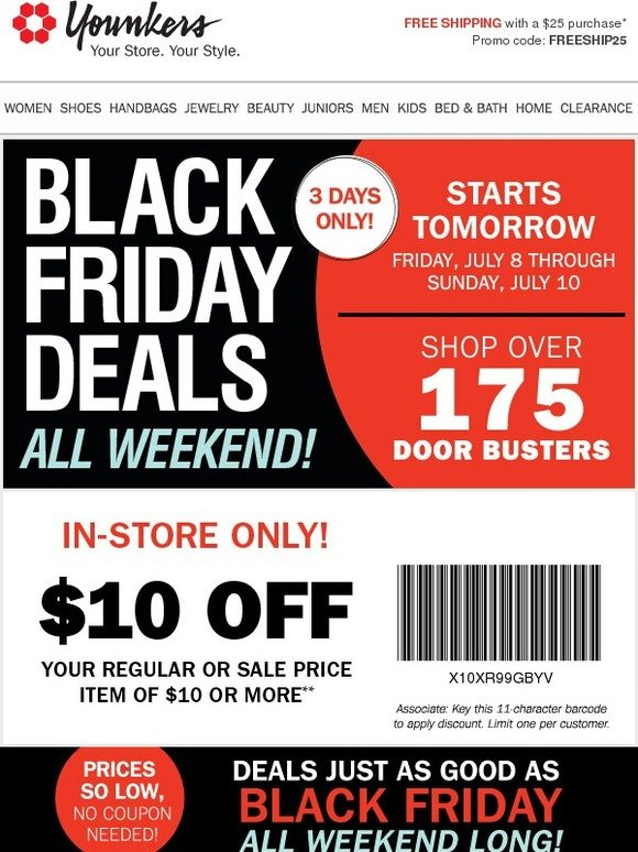 d8fcd43dccd Younkers  Black Friday Starts TOMORROW   10 off  10 Coupon + Door Busters ▷