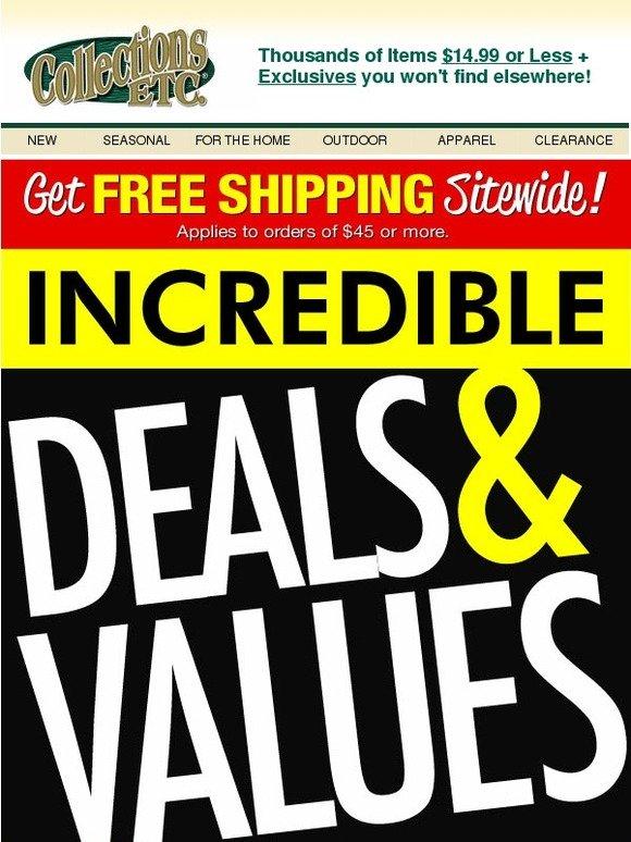 Collectionsetc com coupon code