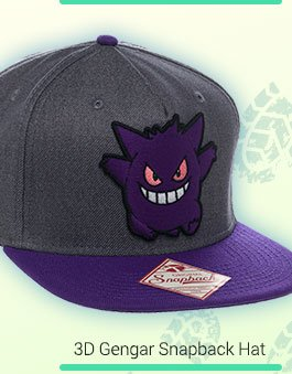 Shop The 3D Gengar Pokemon Snapback Hat! 1d184f6c620