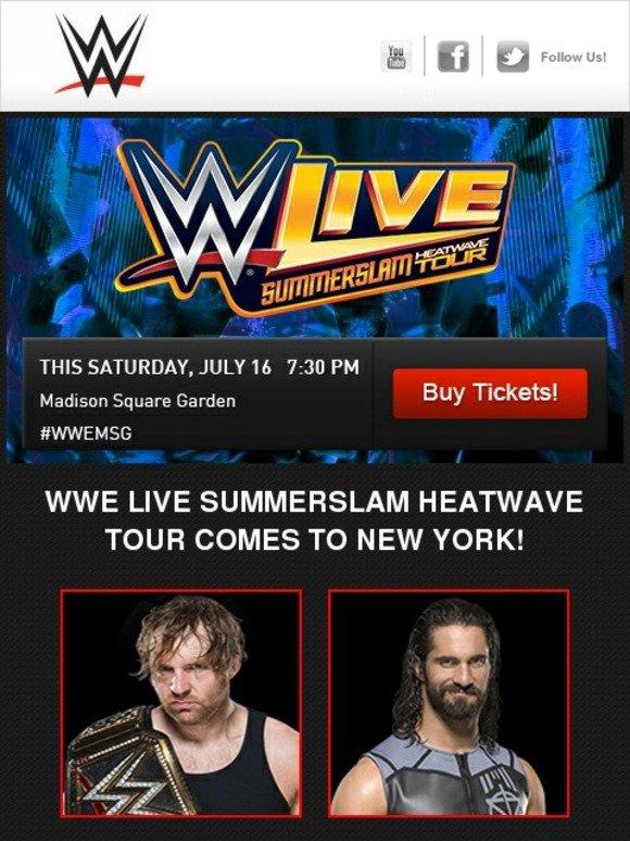 Wwe Summerslam Heatwave Tour Lineup