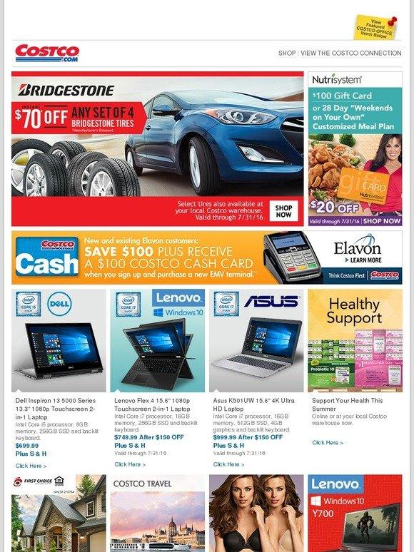 Costo: New Online Only Savings! Bridgestone Tires, Nutrisystem