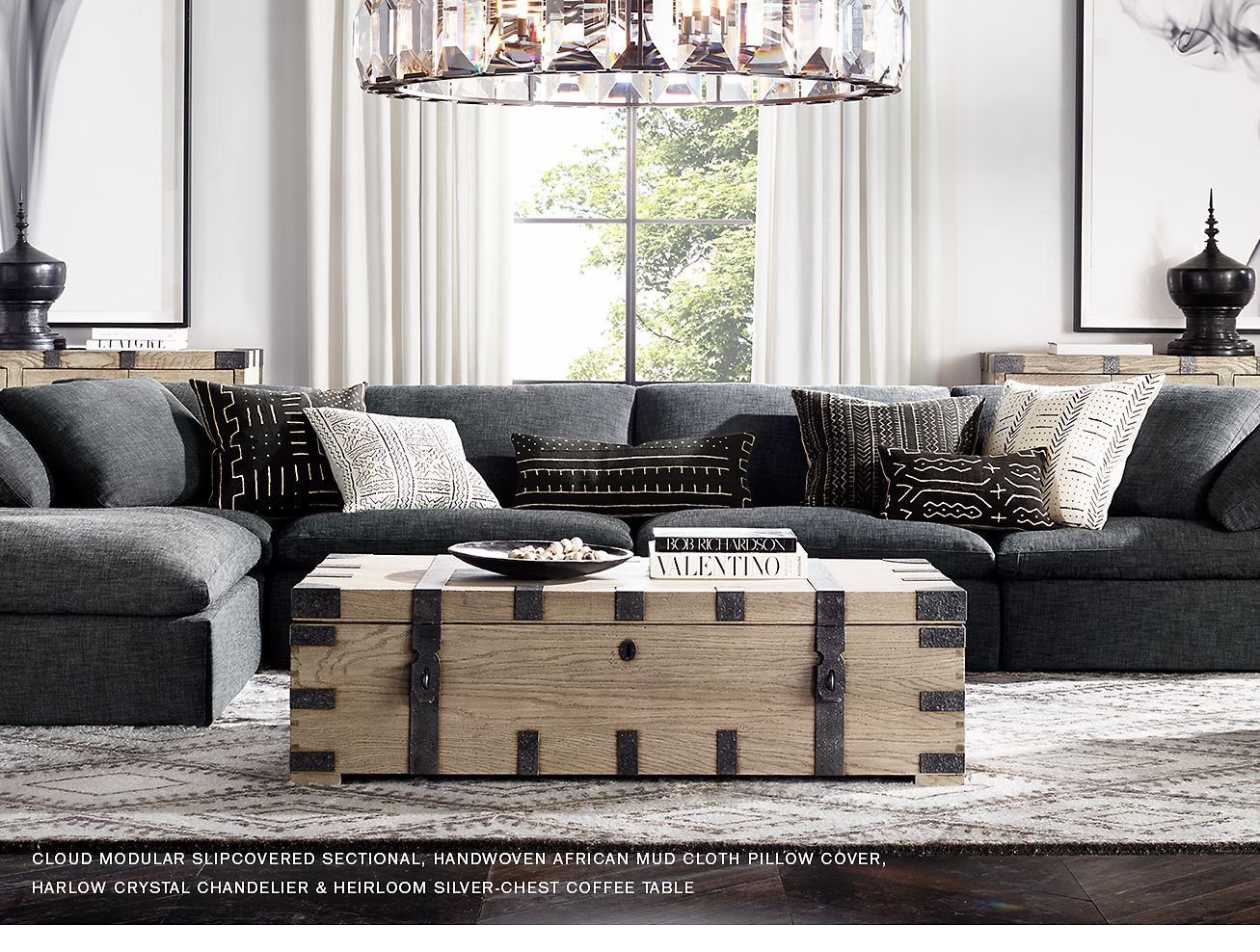 Restoration Hardware: Explore the Heirloom Collection and African Mud Cloth Pillows & Throws ...