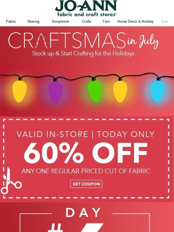 Jo ann fabric and craft store on the 6th day of craftsmas for Joann craft store hours