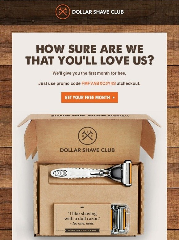 Dollar Shave Club: Claim your FREE Month of Dollar Shave Club ...