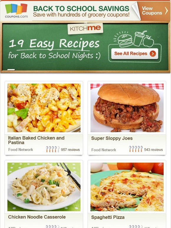 Coupons 19 Simple Back To School Recipes Milled