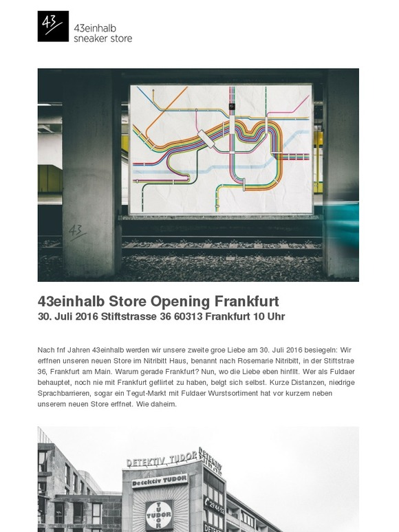 43einhalb sneaker store 43einhalb store opening frankfurt. Black Bedroom Furniture Sets. Home Design Ideas