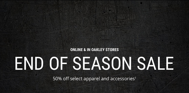 END OF SEASON SALE