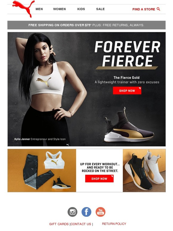 b87e84b1cdb Puma  Kylie Jenner + Gold   This season s flyest kick.