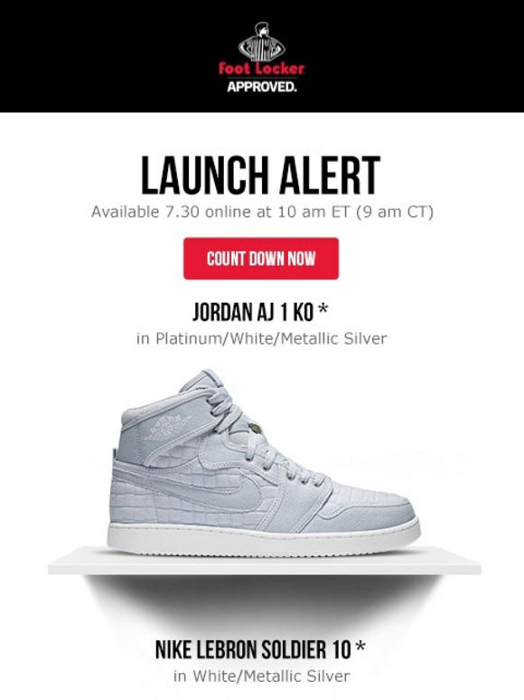 1e9ad6071e4 Foot Locker  Releasing tomorrow  Jordan AJ 1 KO