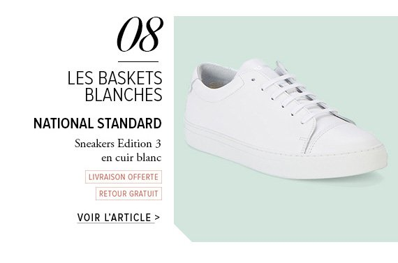 LES BASKETS BLANCHES