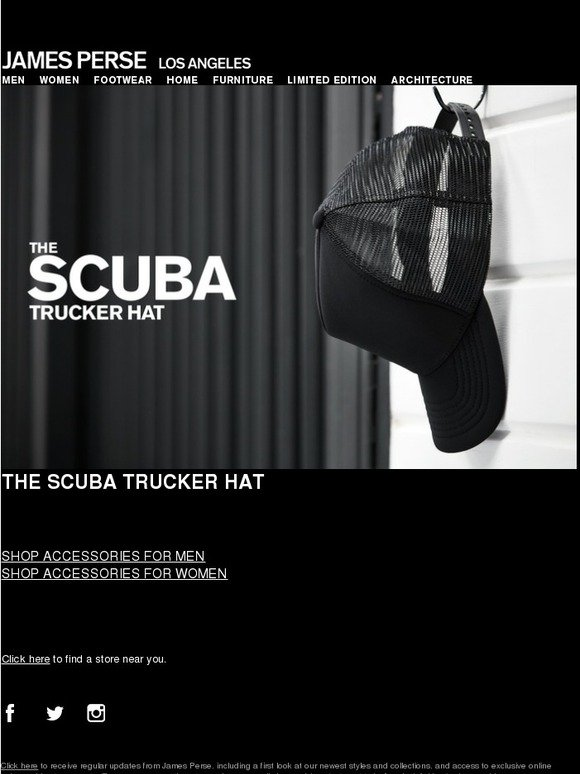James Perse  The Scuba Trucker Hat  527e2994949