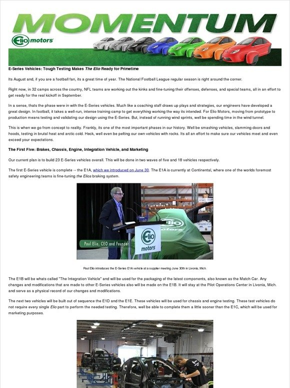 Elio Motors: Meet the 23 E-Series Vehicles | Milled