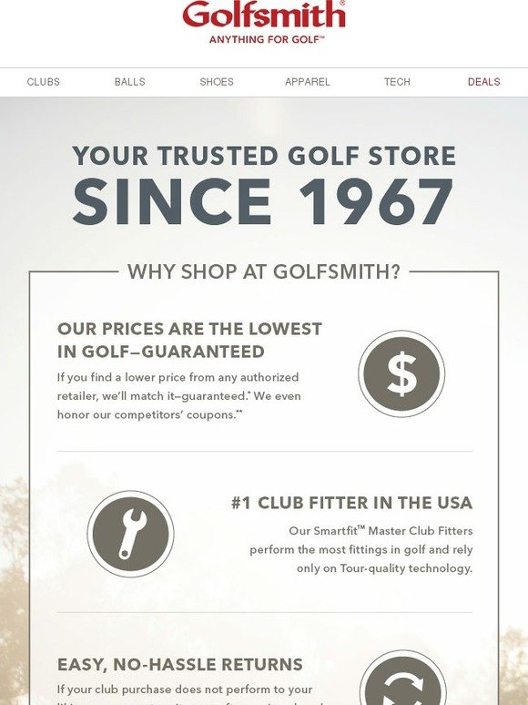 Golfsmith: You Deserve A Store That Would Do Anything For ...
