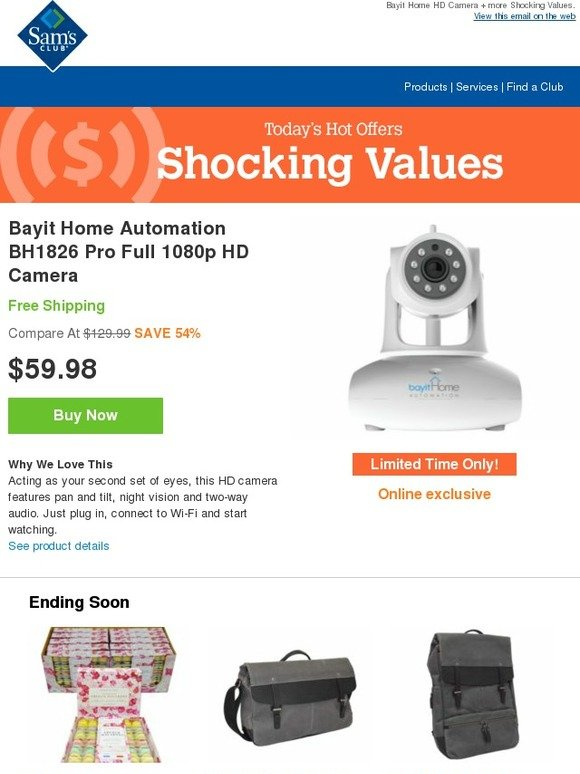 Sam S Club Home Security System For 60 Free Shipping
