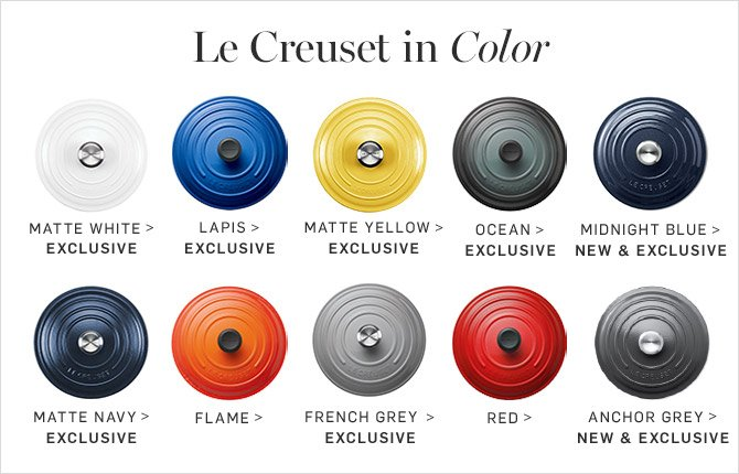 Pottery Barn Introducing Le Creuset In Midnight Blue