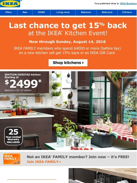 Ikea Hurry In And Save At The Ikea Kitchen Event Milled
