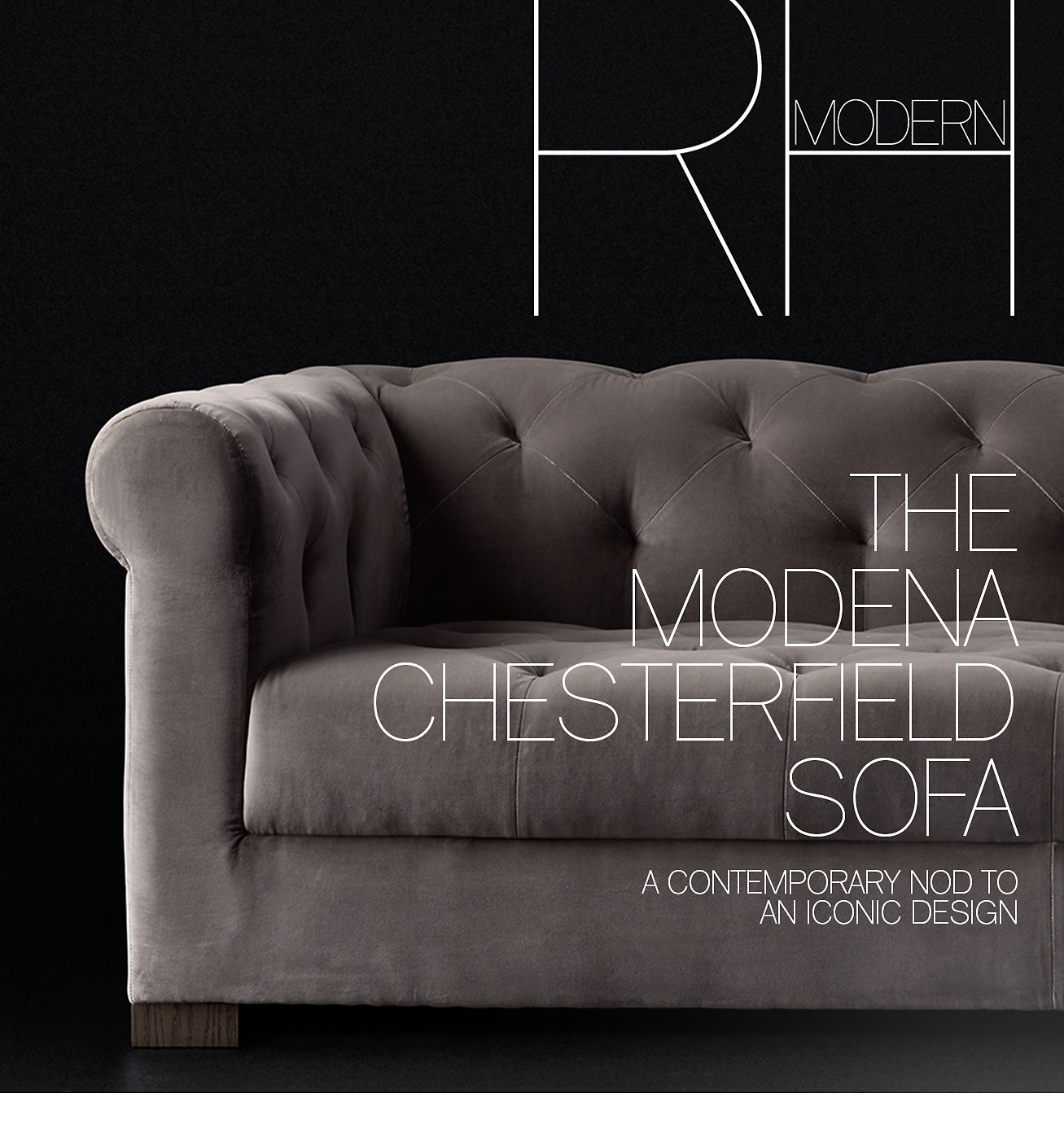 Wonderbaarlijk Restoration Hardware: Explore the Modena Chesterfield Sofa & the WL-61