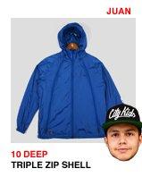 10 Deep Triple Zip Sheel