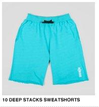 10 Deep Stacks Sweatshorts