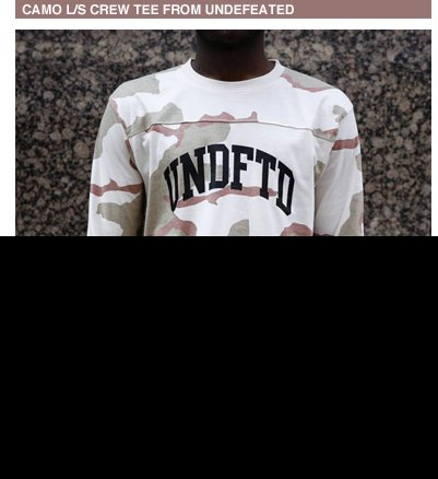Camo L/S Crew Tee From Undefeated