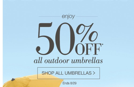 Home Decorators Collection Made In The Shade 50 Off All Umbrellas Milled