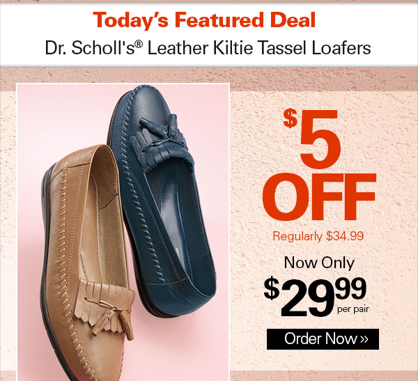 Haband Dr Scholl S Shoes Leather Tassel Loafers