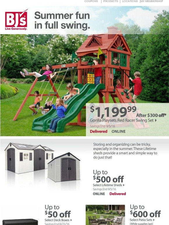 Bjs Wholesale Club Outdoor Essentials Keep The Summer Rolling