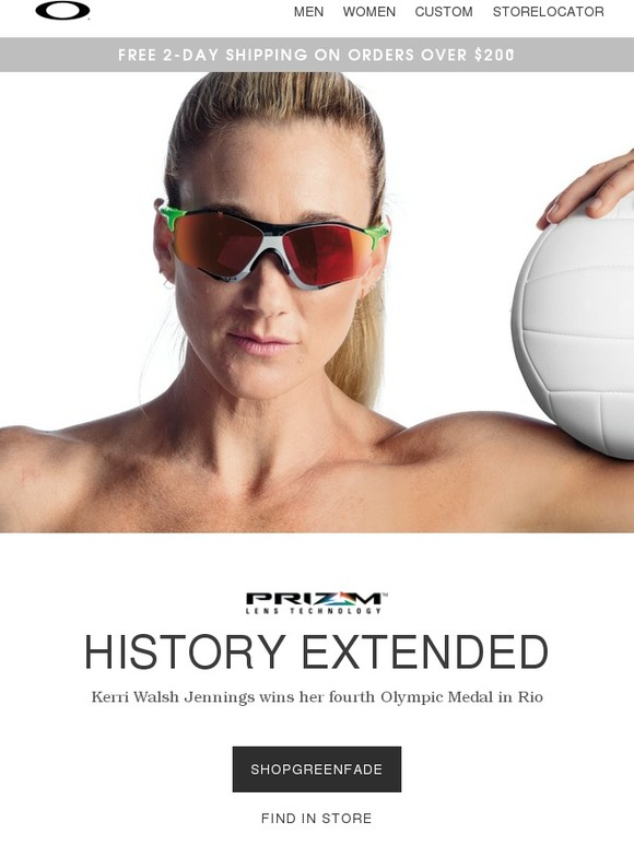 e655f9abd9a Oakley Vault  Kerri extends her Olympic Dynasty