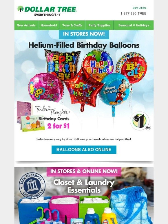 Dollar Tree Shop Birthday Balloons For Your Next Big Bash