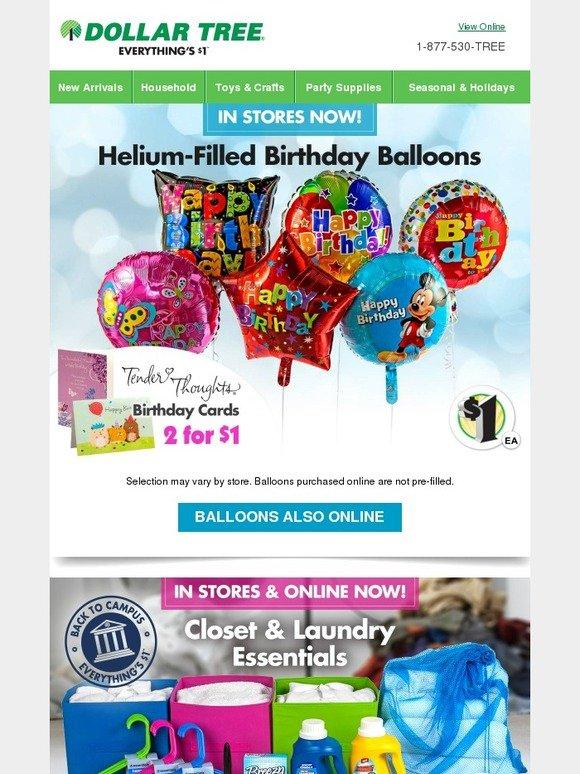 Dollar Tree Shop Birthday Balloons For Your Next Big Bash