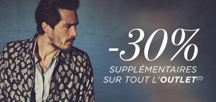 -30% SUPPLÉMENTAIRE SUR TOUT L'OUTLET